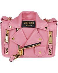 Moschino Biker Shoulder Bag - Pink