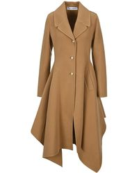 JW Anderson Asymmetric Single Breasted Coat - Natural