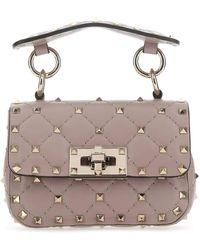 Valentino Garavani Garavani Rockstud Spike Mini Crossbody Bag - Pink