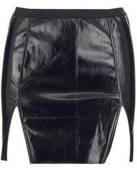 Rick Owens Front Slits Mini Skirt - Black
