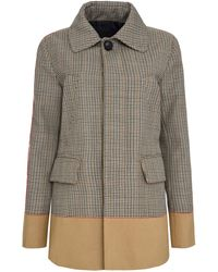 DSquared² Paneled Single Breasted Check Coat - Multicolor