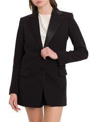 Chloé Single Breasted Tuxedo Blazer - Black