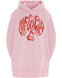 MM6 by Maison Martin Margiela Oversize Circle Hoodie - Pink