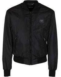 Dolce & Gabbana Logo Plaque Jacket - Black