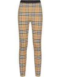 Burberry Vintage Check Leggings - Multicolor