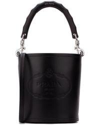 Prada City Bucket Bag - Black
