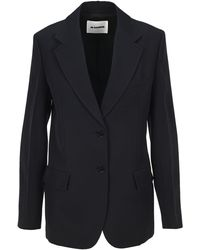 Jil Sander Essential Two Buttons Blazer - Blue