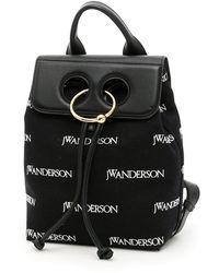 JW Anderson Logo Pierced Backpack - Black