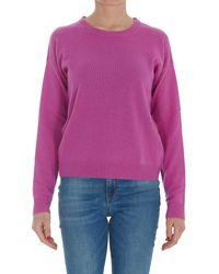 Pinko Long-sleeved Knit Sweater - Purple