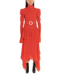 Matériel Asymmetric Dress - Red