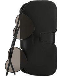 Saint Laurent Heart Shaped Sunglasses - Black