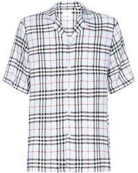Burberry Twill Shirt Vintage Check - Blue