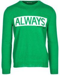 Valentino Men's Jumper Jumper Pullover Always - Green