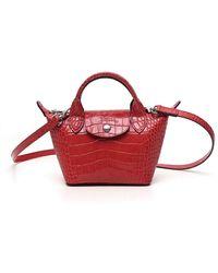 Longchamp Le Pliage Cuir Xs Top Handle Bag - Red