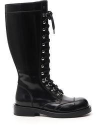 Dolce & Gabbana Lace-up Combat Boots - Black