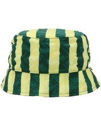 Sunnei Stripe Print Bucket Hat - Green