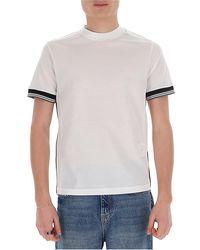 Prada Contrast Stripe Crewneck T-shirt - White