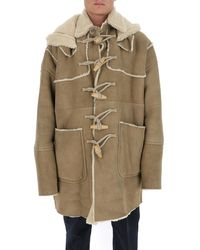 DSquared² Patch Pockets Hooded Duffle Coat - Brown