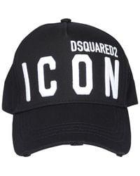DSquared² Icon Logo Embroidered Baseball Cap - Black