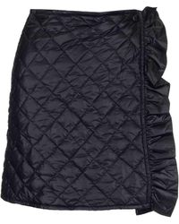 Moncler Quilted Ruffle Detail Mini Skirt - Black