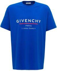 Givenchy Logo Printed Oversized T-shirt - Blue