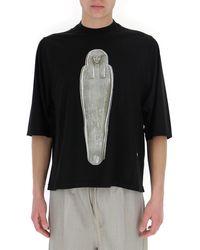Rick Owens DRKSHDW Mummy Printed T-shirt - Black