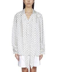 Lanvin Polka Dot Print Silk Blouse - Multicolour