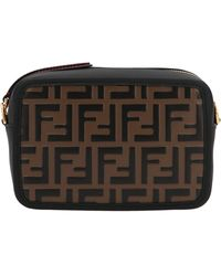 Fendi Ff Motif Mini Camera Bag - Brown
