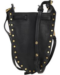 Isabel Marant Radji Studded Leather Bucket Bag - Black