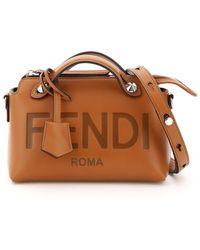 Fendi By The Way Mini Bag Logo - Brown