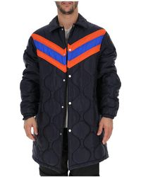 9fd9aefb8 Gucci Bee Jacquard Bomber Jacket in Blue for Men - Lyst