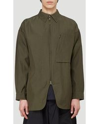 Y-3 Zip-up Shirt Jacket - Green