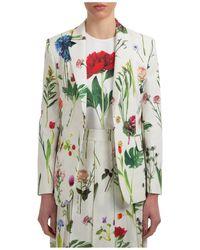 Moschino Boutique Floral Printed Blazer - Green
