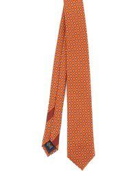 Ermenegildo Zegna Patterned Tie - Orange