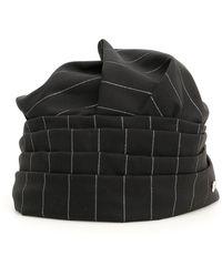 Loro Piana X Flapper Pinstripe Turban - Black