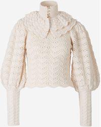 Zimmermann Ladybeetle Crochet Sweater - White