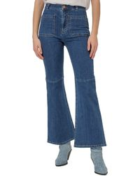 See By Chloé High-waisted Flared Jeans - Blue