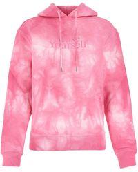 Paco Rabanne Tie-dye Slogan Printed Hoodie - Pink