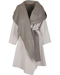 Issey Miyake Oversized Reversible Wrap Coat - Grey