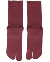 Maison Margiela Tabi Toe Socks - Red