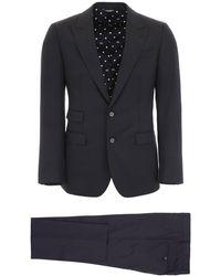 Dolce & Gabbana Napoli Suit 48 Wool - Blue