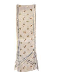 Gucci - Stirrups Motif Silk Scarf - Lyst