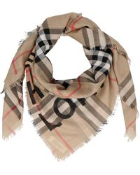 Burberry Horseferry Print Checked Scarf - Multicolour