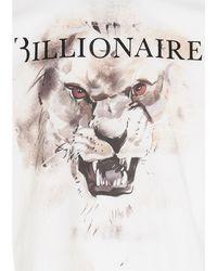 Billionaire Lion Print T-shirt - White