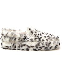 Vans Classic 98 Furry Detail Slip On Sneakers - Multicolour