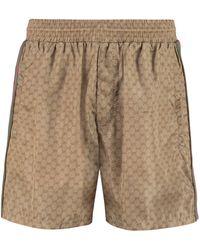 Gucci GG Waterproof Swim Shorts - Brown