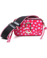 Marc Jacobs The Snapshot Printed Hearts Crossbody Bag - Red