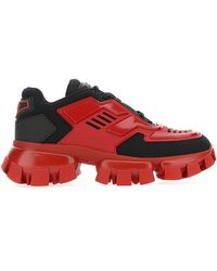 Prada Cloudbust Thunder Sawtooth Sole Sneaker - Red