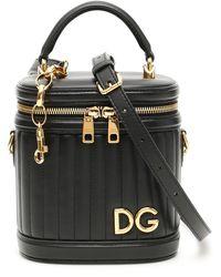 Dolce & Gabbana Quilted Bucket Bag - Black