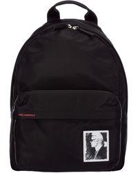 Karl Lagerfeld Women's Rucksack Backpack Travel Capsule Karl Legend - Black